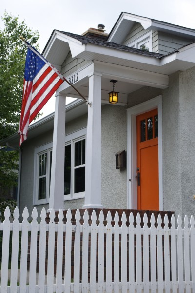 Flag orange door